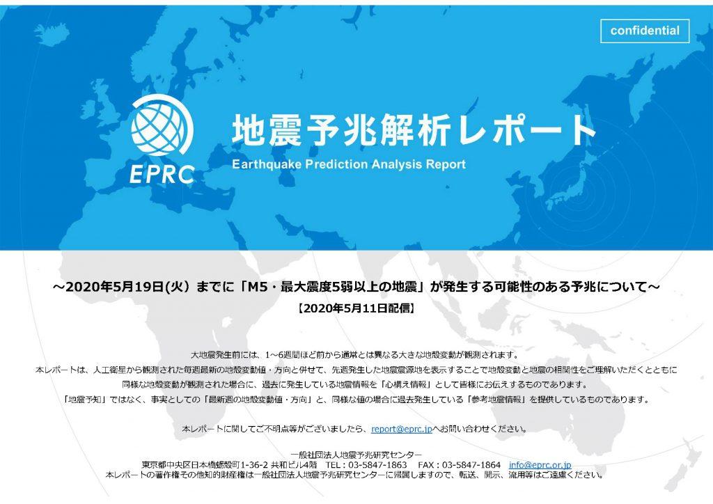 地震予兆解析レポート表紙