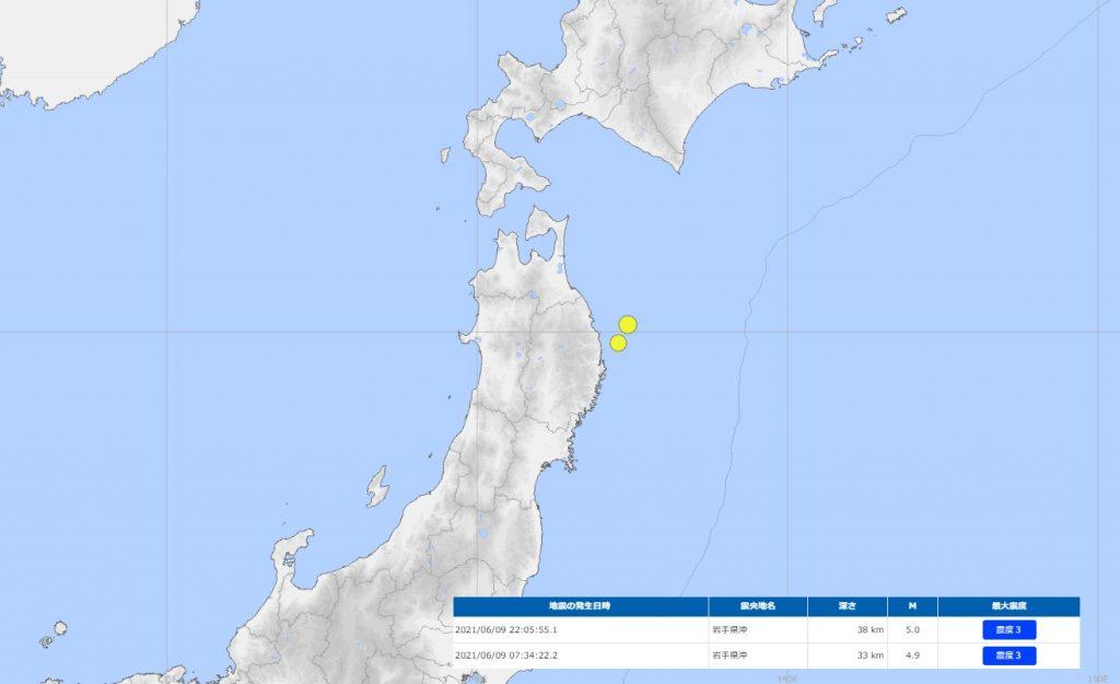 6月9日発生地震